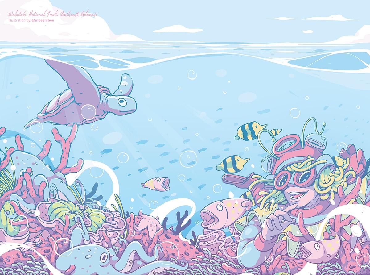 Wonderful Indonesia through The Magic of Inspiring Illustration
